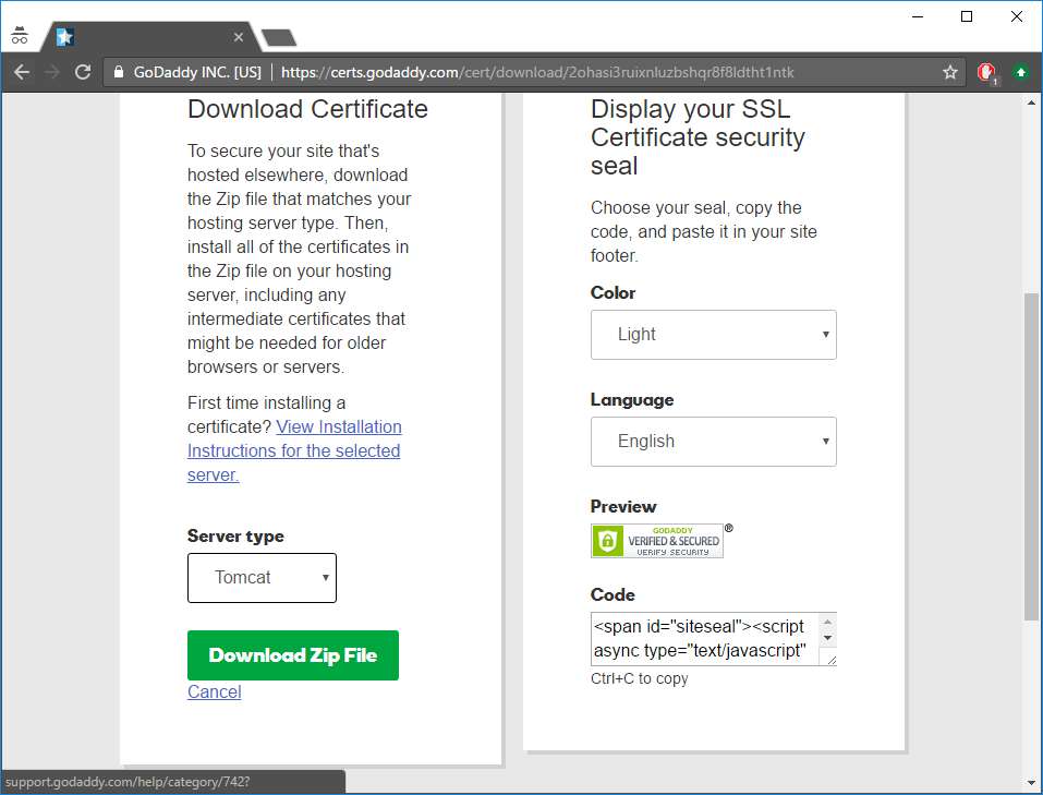 9 Setting Up Https Godaddy Example Intella Connect User Manual