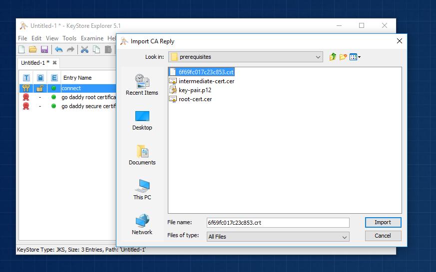java keytool import p12 into keystore